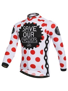 Windproof Polka Dots Men's Cycling Outfit