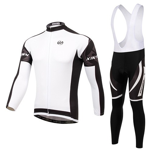 Winter Fleece Long Sleeve Men's Cycling Outfit