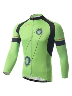 Polyester Spring Full-Zip Cycling Outfit
