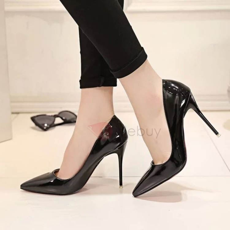 Solid Color Stiletto Heel Classic Pumps