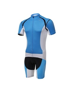 Tight-Fitting Full-Zip Cycle Jersey And Shorts
