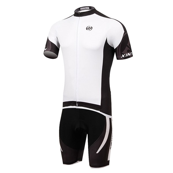 White Short-Sleeve Cycling Outfit