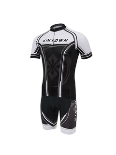 Short-Sleeve Striped Cycling Outfit