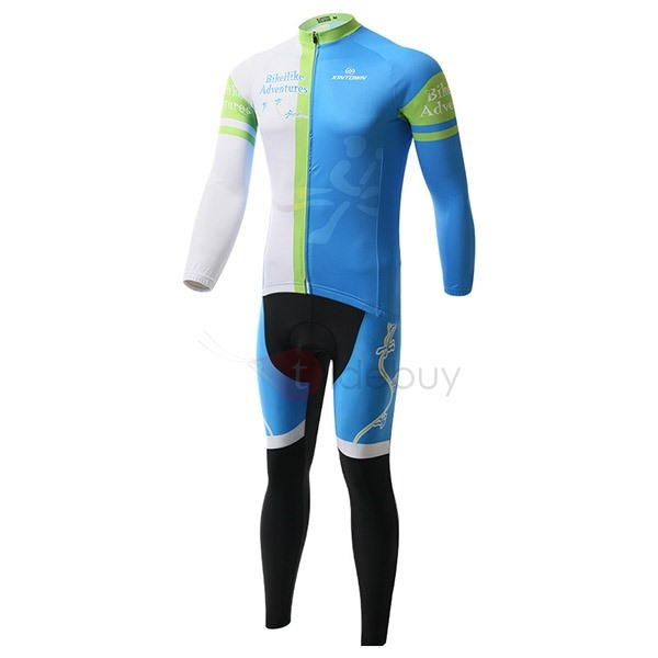 Letters-Print Cycling Jersey And Pant