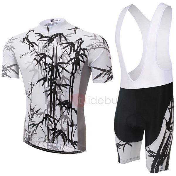 Bamboo-Print Cycling Jersey And Bib Shorts