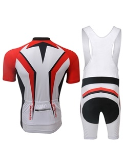 Multi-Color Cycling Jersey And Bib Shorts
