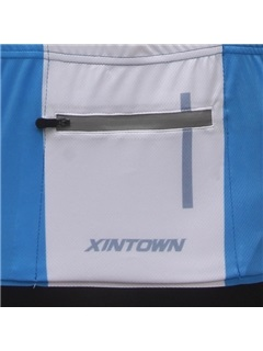 Blue Polyester Cycle Jersey And Bib Shorts