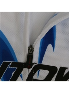 White Polyester Cycle Jersey And Bib Shorts