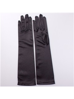 Plain Satin Wedding Gloves