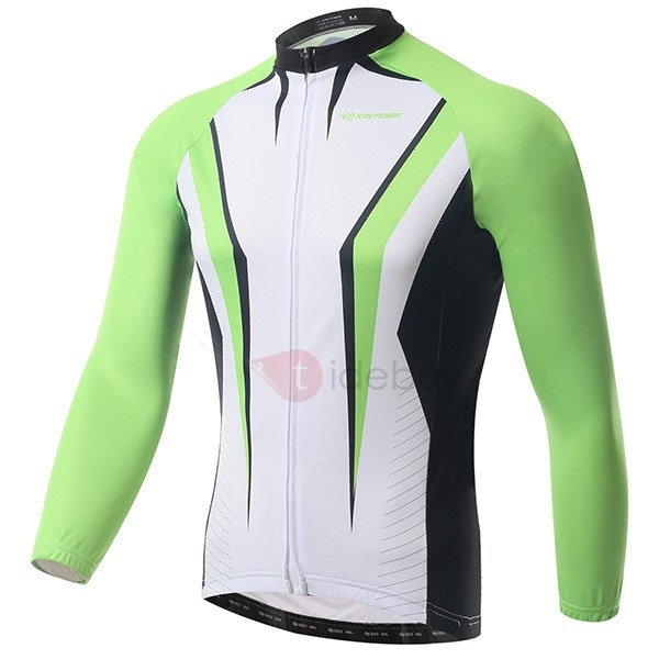 Form-Fitting Long-Sleeve Fleece Cycle Jersey