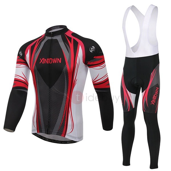 Multi-Color Long-Sleeve Cycle Jersey And Bib Pant