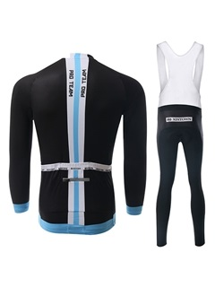 Long-Sleeve Black Cycle Jersey And Bib Tights