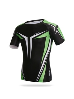 Spandex Crew-Neck Men's Cycle Jersey