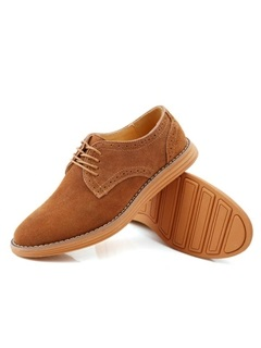 Suede Lace-Up Front Men's Casual Shoes