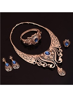 Alloy Fashion Hollow Jewelry Set for Women