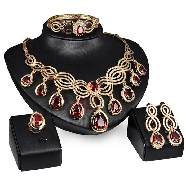 Hot Sale Hollow Alloy Jewelry Set for Women