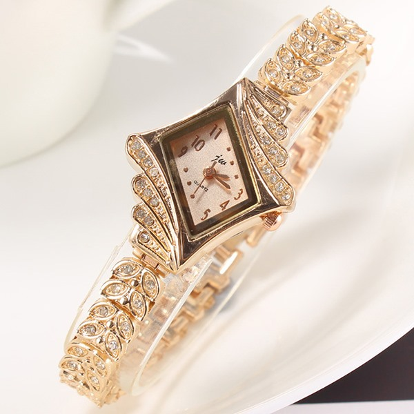 Image of Beautiful Rhinestones Alloy Women Watch