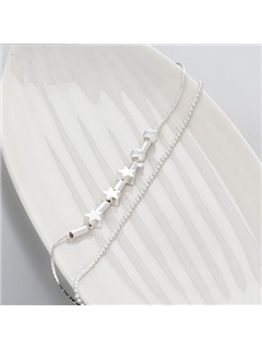 Graceful Silver E-plating Women Anklet