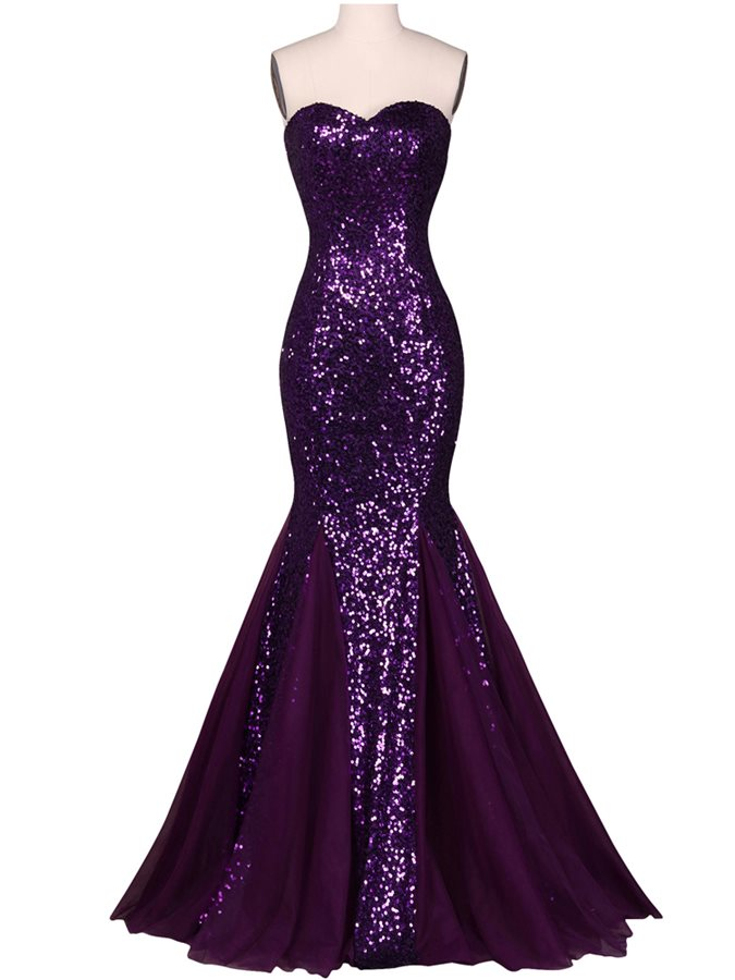 Shining Sweetheart Mermaid Sequins Evening Dress