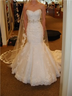 Delicate Sweetheart Appliques Sequins Mermaid Wedding Dress 31