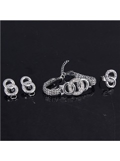 High Quality Alloy Round Jewelry Set(4 pieces)