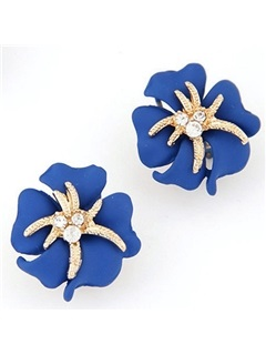 Sweet Flowers and Starfish Design Stud Earrings