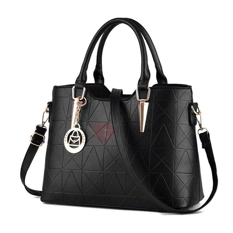 Geometrical Pattern Printed Women's Tote Bag