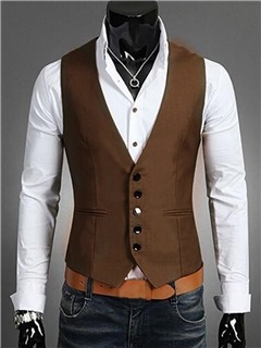 Single-breasted Men's Vest