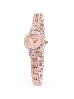 Rose Gold-Tone Full Rhinestones Women Watch