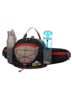Functional Double Bottle Pocket Outdoor Waist Bag