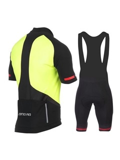 Space-Dyed Front-Zip Men's Bike Jersey & Bib Shorts