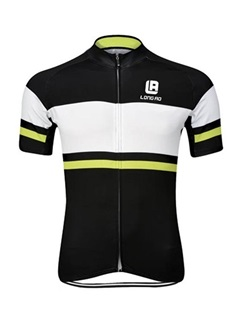 Colored Stripe Full-Zip Men's Bike Jersey