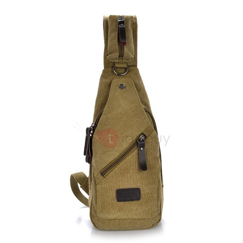 Thin Style Canvas Work Chest Bag