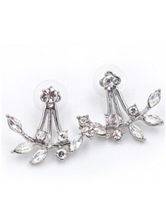 Chic Leaves Diamante Earrings