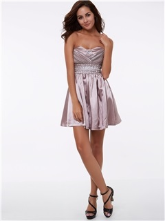 Cheap Sweetheart Beading Short Cocktail Dress