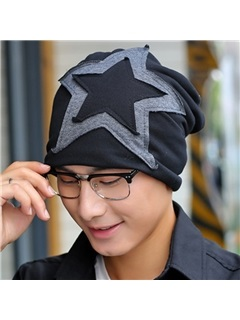 Five-Pointed Star Pasted Cloth Men's Hat 1
