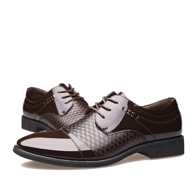 Breathable PU Lace-Up Mens Dress Shoes