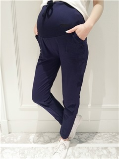 Casual Loose-Fit Lace-Up Maternity Pant