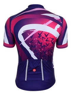 Polyester Breathable Full Zipper Fabulous Printed Cycling Jersey