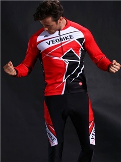 Lycra Quick Drying Silica Gel Cushion Long Sleeve Men Cycling Suit