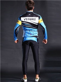 Mesh-Trim Quick Drying High Elastic Long Sleeve Men Cycling Suit
