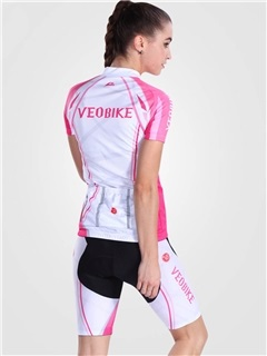 Snug-fitting Fast Drying Reactive Printed Women Cycling Outfit