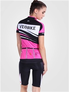 Ventilate Fast Drying Reactive Short Sleeve Women Cycling Outfit