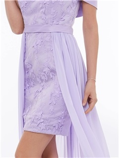 Modern Off the Shoulder Appliques High Low Party Dress