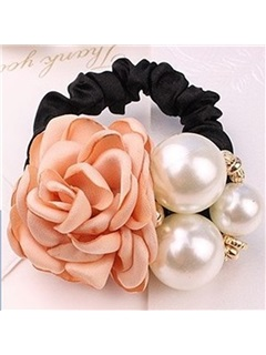 Rose & Pearl Decorated Hair Rope