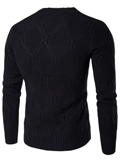 Pattern Causal Men's Thicken Sweater