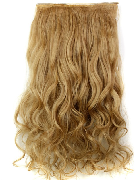 27# Long Wave Synthetic One Piece Clip In Hair Extension 24 Inches