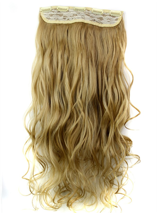 Image of 24M27 Mix Color Long Wave Synthetic One Piece Clip In Hair Extension 24 Inches