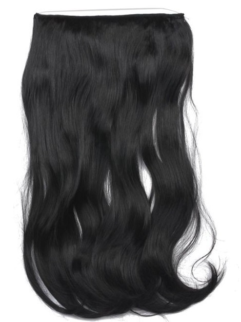 #1B Loose Wave 100% Human Hair Flip In Hair Extension