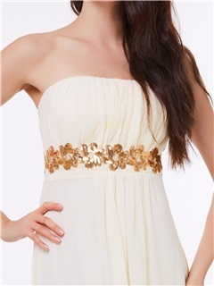 Chic Strapless Sequins Long Prom Dress